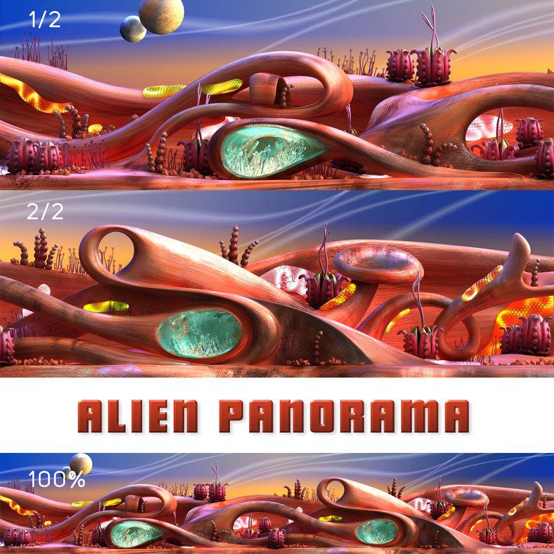 fiction panorama 3D model