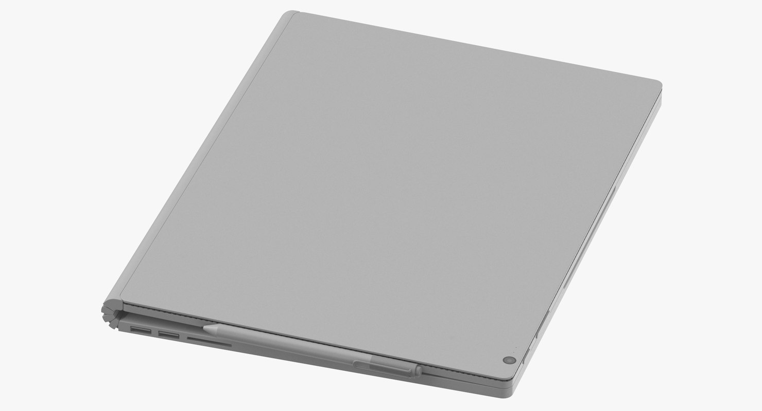 3D model generic laptop closed