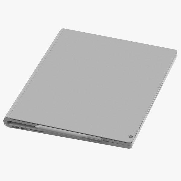 3D model generic laptop closed
