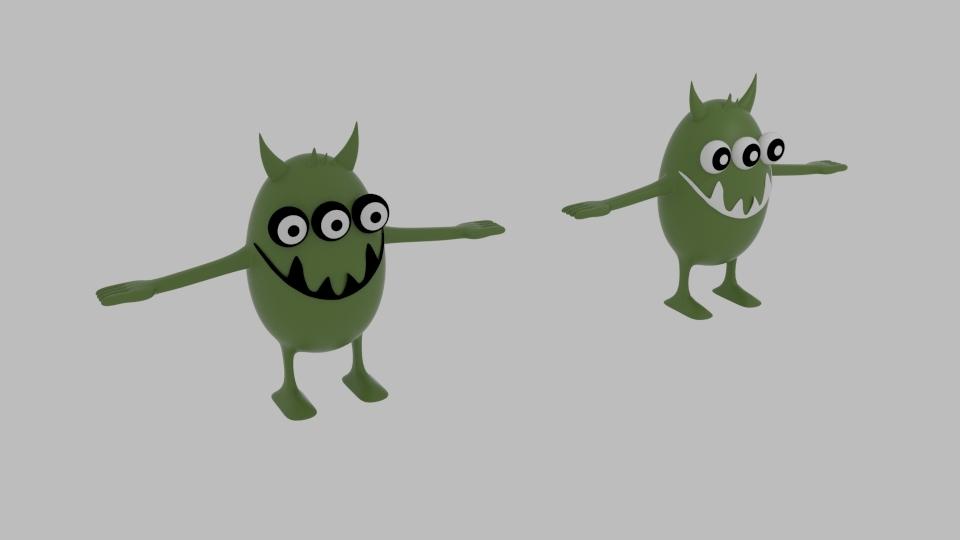 germonster germ monster 3D model