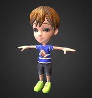3D model cute boy