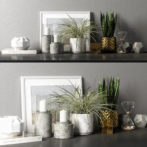 3D decorative set 04