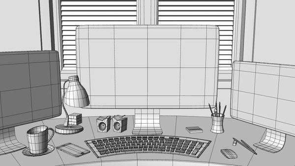 3D office props