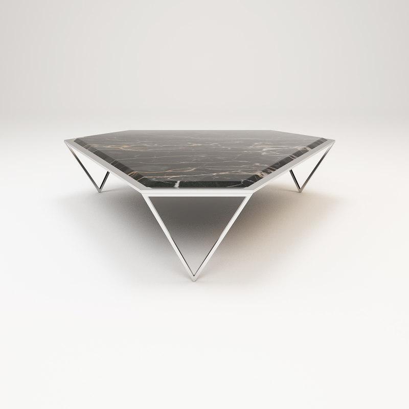 3D luxury center table model