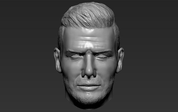 david beckham standard 3D model