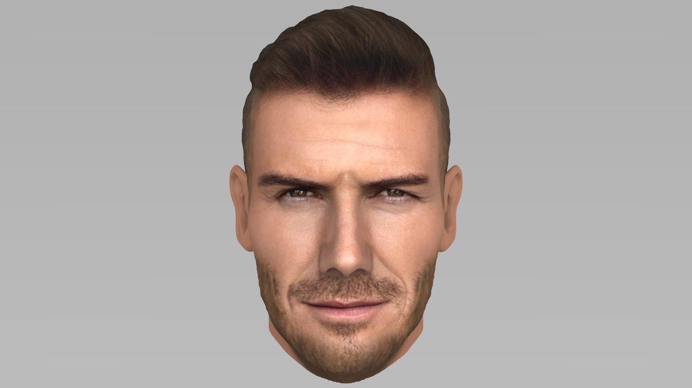 3D david beckham model