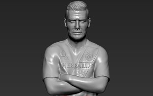 david beckham ready printing 3D model