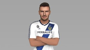 3D model david beckham ready color