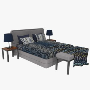 bed table smania markus 3D model