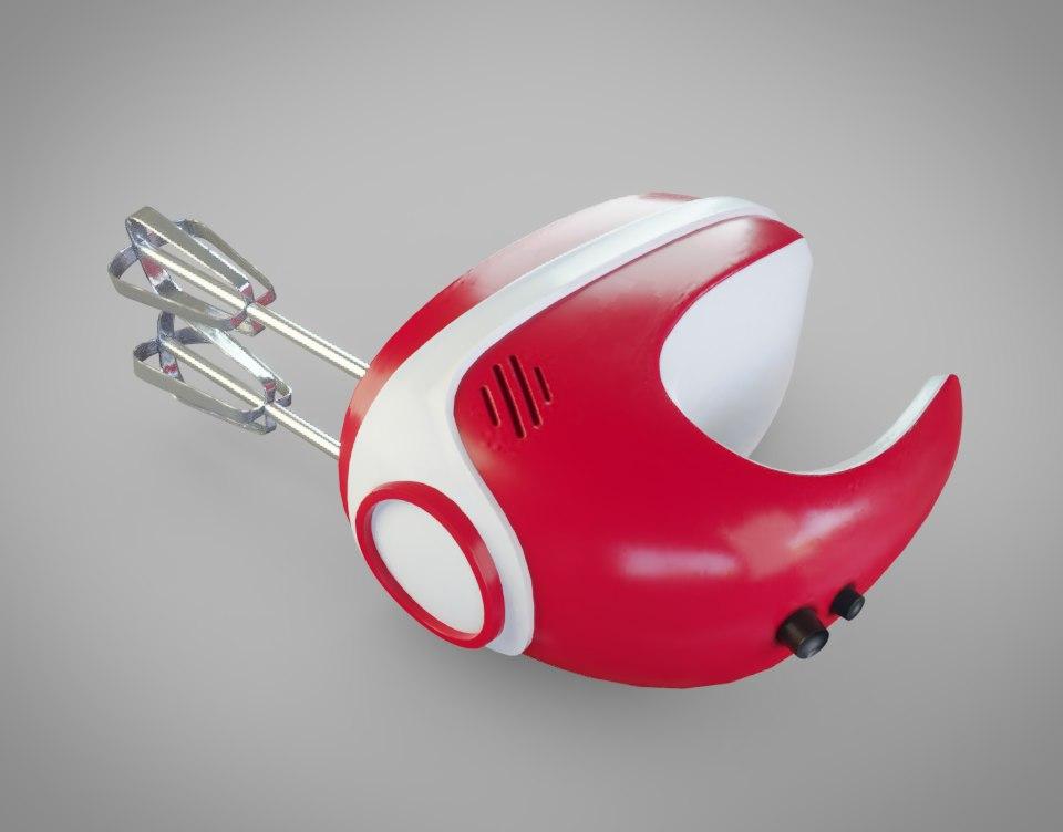 3D model hand mixer mix