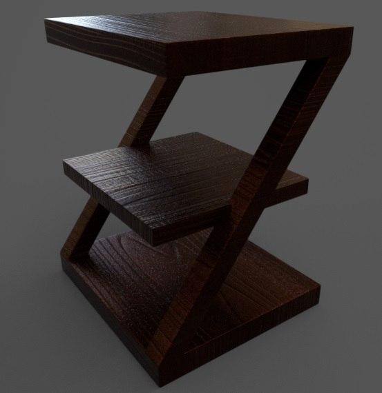 minibookcase 3D model