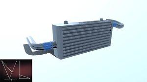 3D cooler intercooler model