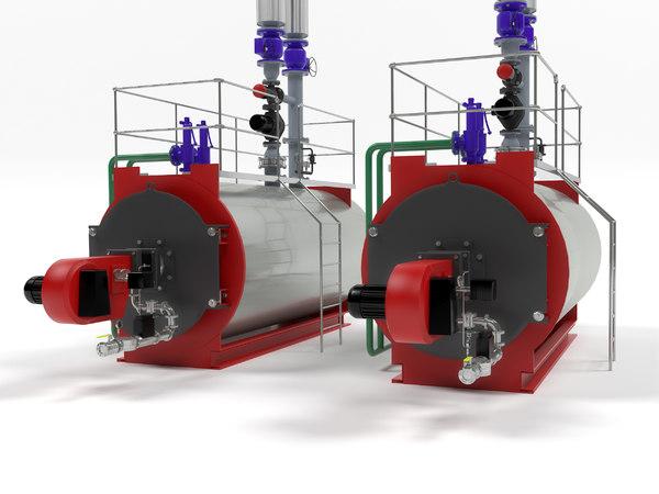 bosch unimat industrial boiler 3D model