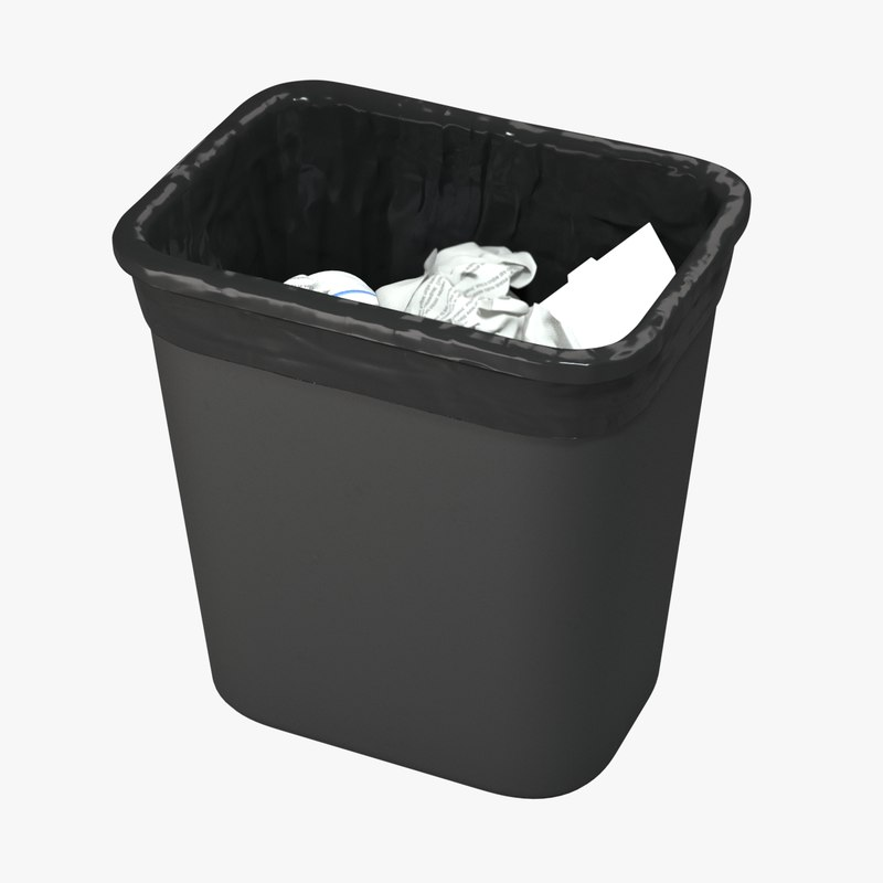 trash contains 3D model
