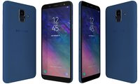 3D samsung galaxy a6 blue model