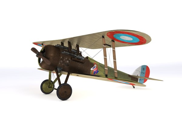 3D model nieuport 28 c1 french
