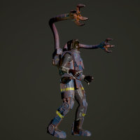 hero character games space 3D