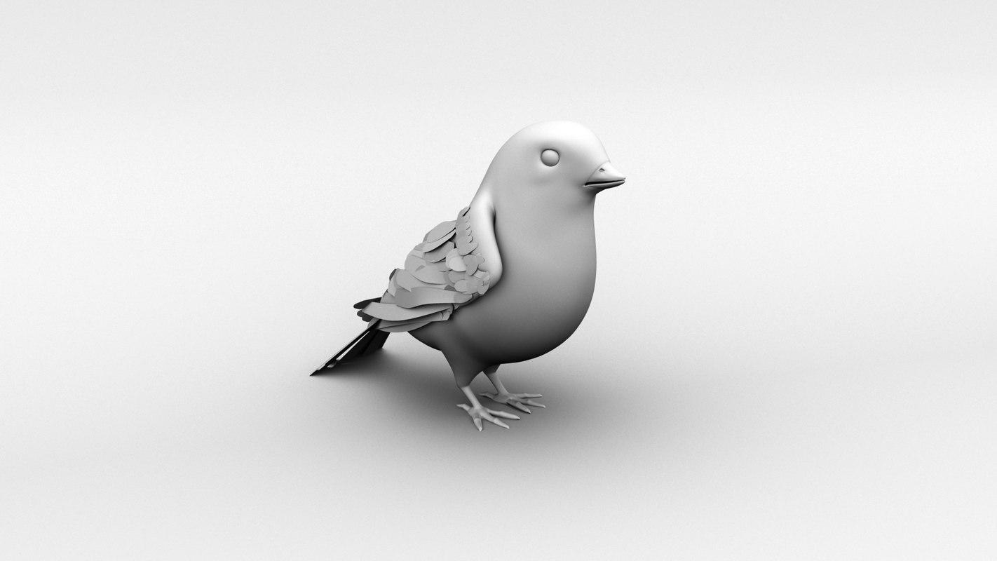 3D sparrow rig model