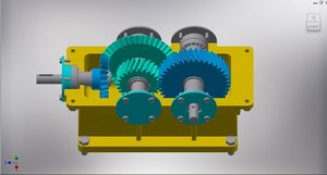 3D speed reducer gearbox