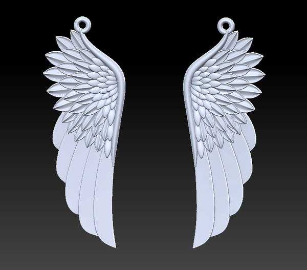 wing pendant 3D model