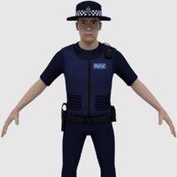 3D ready australian police officer