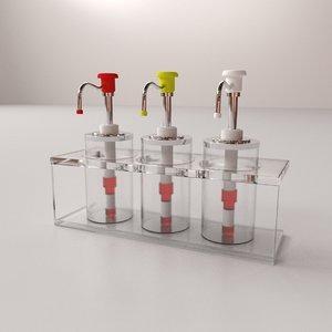 condiment dispenser v2 3D