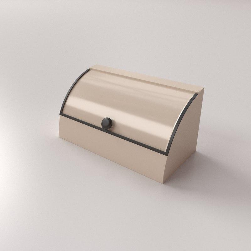 3D breadbox bread box model