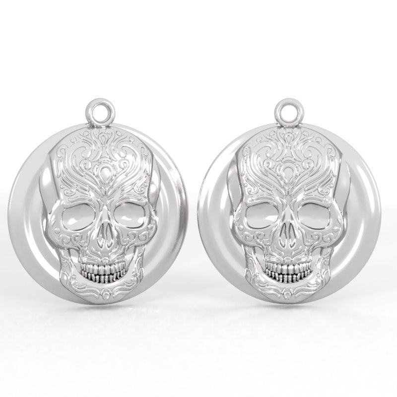 3D pendant skull pattern model