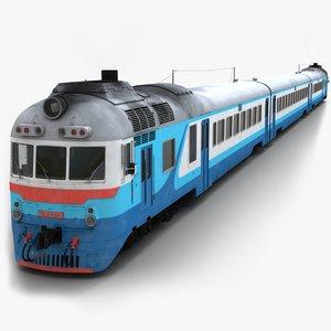 3D d1 diesel passenger train model