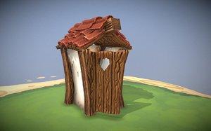 stylized toilet 3D model