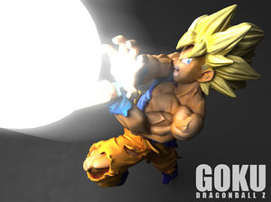 3D son goku model