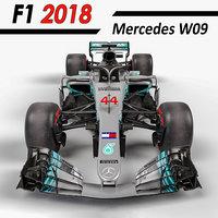 2018 mercedes w09 3D