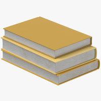books pile 3D model