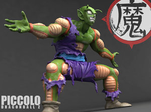 piccolo figure scanned model