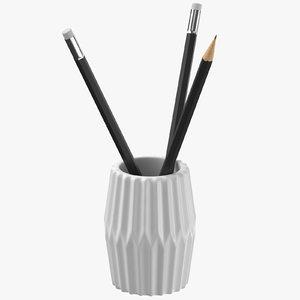 3D pencil holder model