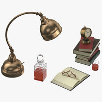 3D desk decor set 03