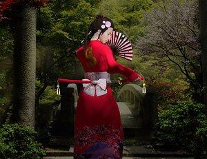 3D model geisha warrior