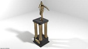statue trophy 3D