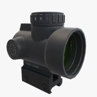 mro red dot sight 3D model
