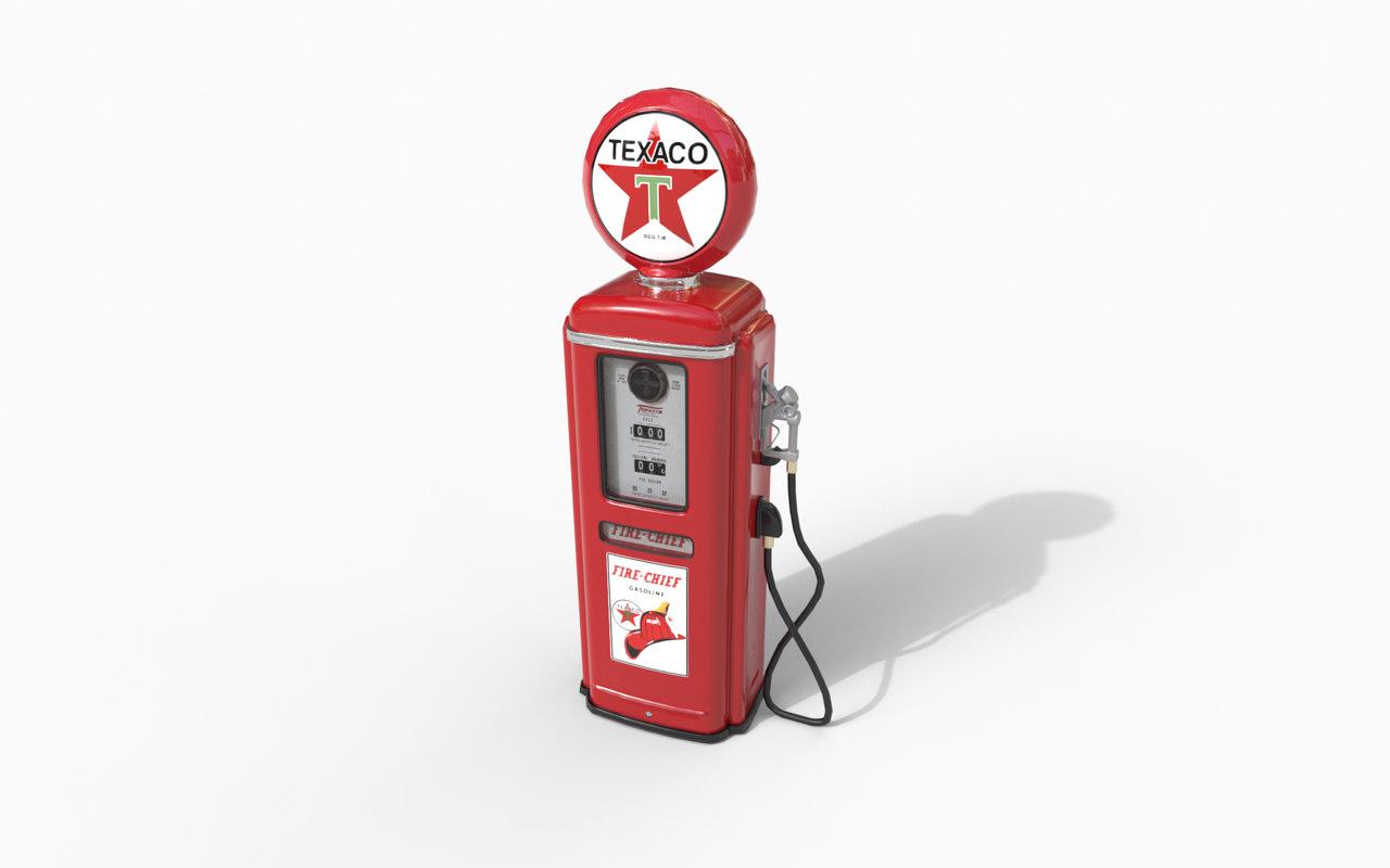 3D texaco gas pump model