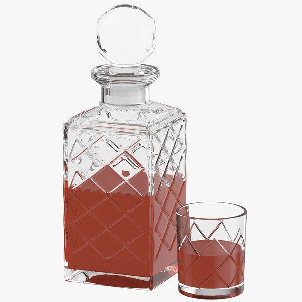 bottle glass 3D