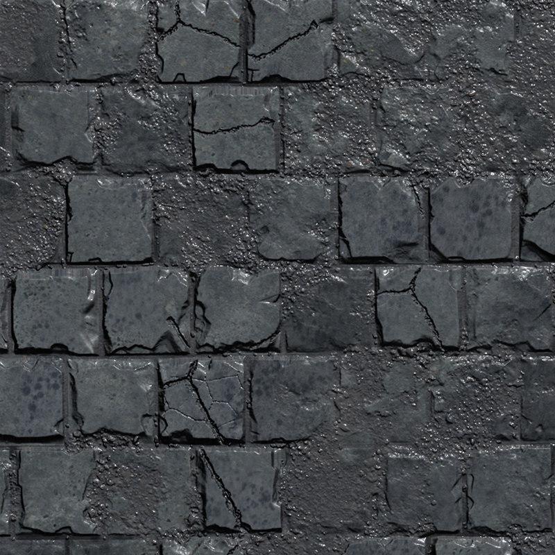 3D stones brick wall