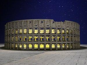 3D model roma coliseum
