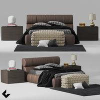 bed bedroom 3D model