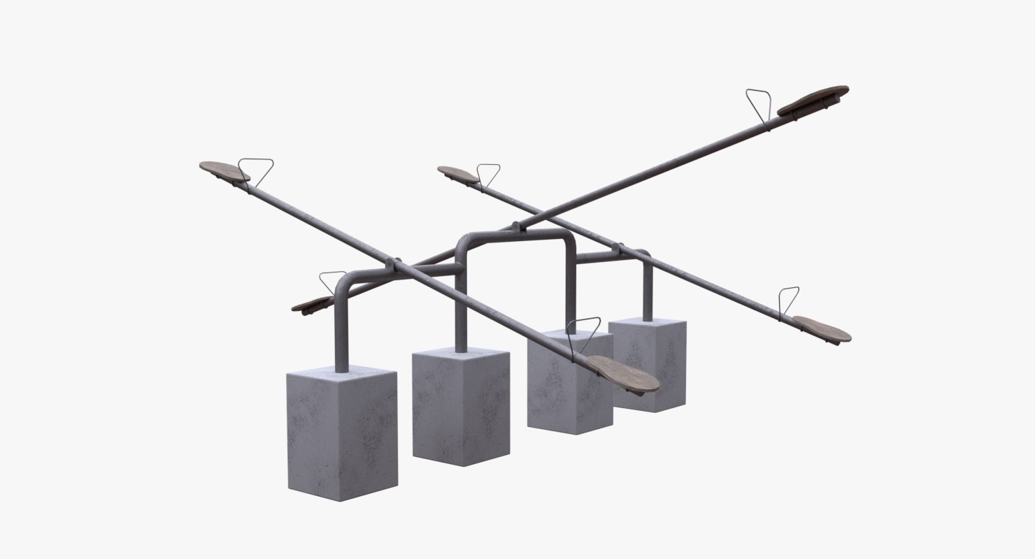 seesaw playground 3D model