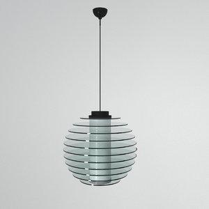 3D ceiling lamp fontana arte model