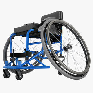 3D model sport wheelchair