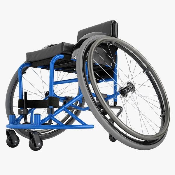 3D model sport wheelchair