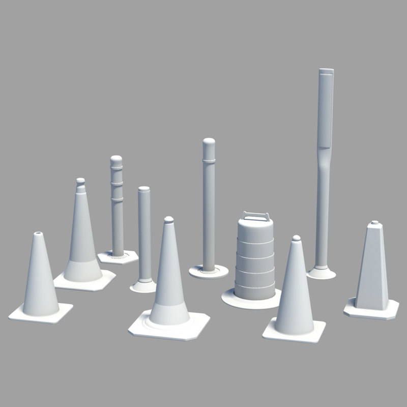 road safety cone 3D model