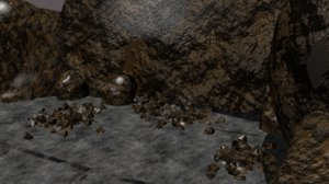 rocks cliff 3D model